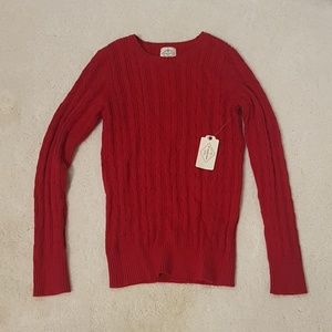 Red sweater long sleeve